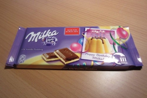 Milka à la Vanillepudding