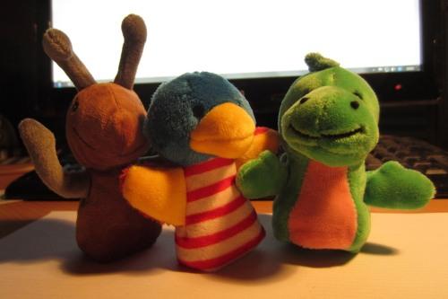 Fred, Finki und Baldur (von links)