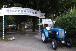 Biergarten-Eingang