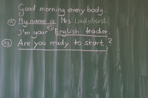 Welcome to our 1st English lesson