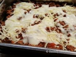 Lasagne - geschichtet
